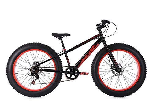 KS Cycling Kinder Fatbike 24'' SNW2458 schwarz-rot Fahrrad 24