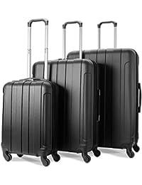 EONO Essentials ABS Set de 3 Valises Rigides Légeres à 4 roulettes