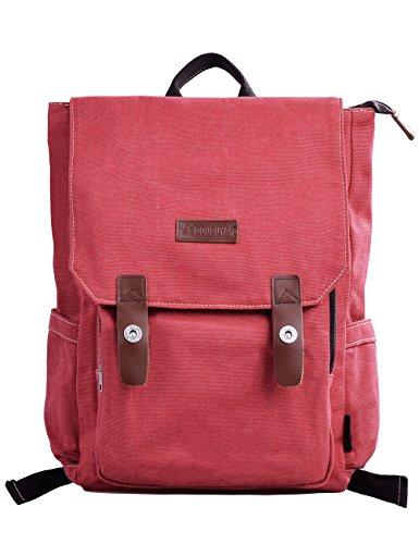 Imagen de douguyan lona  bolsa para mujer  hombre macbook computadora de escuela viaje 120 rojo