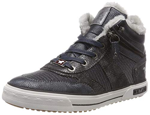 Mustang Mädchen Schnür-Booty Hohe Sneaker, Blau (Navy 820), 38 EU