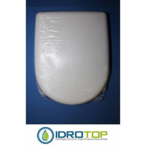 Copriwater dolomite clodia bianco cerniera cromo-sedile-asse wc