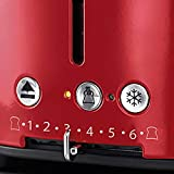 Russell Hobbs 21680-56 Toaster Retro Ribbon Red, Retro Countdown-Anzeige, Schnell-Toast-Technologie, 1300 Watt, rot - 4