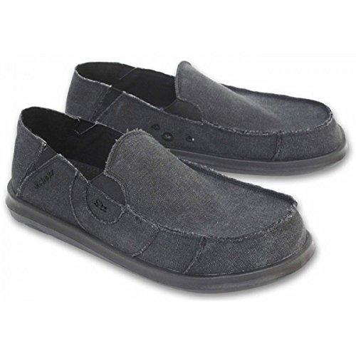 Chaussure Toile Homme, César Noir - Noir Stonewashed - Gris