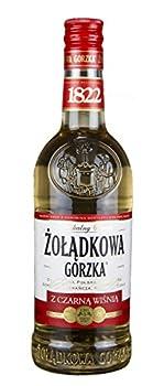 ŻOłądkowa Gorzka Sauerkirsche + Free Shot Glas   Polnischer Wodka   , 0,5 Liter 0
