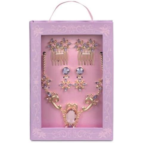 Rapunzel traje conjunto de accesorios, caja de estilo de cuento,