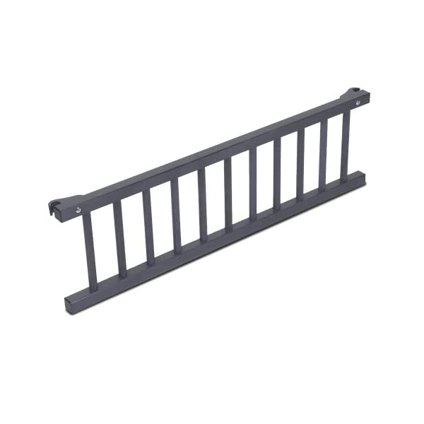 Babybay Guardrail for Maxi/Boxspring, grey varnished babybay Interlocking grate for Maxi and Boxspring cot bed Attaches quickly and easily Safe, sturdy and robust 2