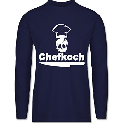Küche - Chefkoch - Longsleeve / langärmeliges T-Shirt für Herren Navy Blau