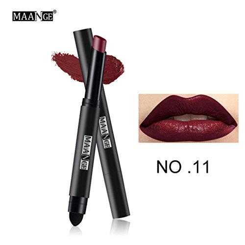 Lipgloss,Rabatt,PorLous 2019 Beliebt Langlebiger Lippenstift Wasserdichter Matt Lipgloss Lip Liner Cosmetics Feuchtigkeitsspendend 10