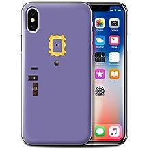 Stuff4 Phone Case/Cover for Apple iPhone X/10/Monica's Purple Door Design/Funny Sitcom TV Parody Collection