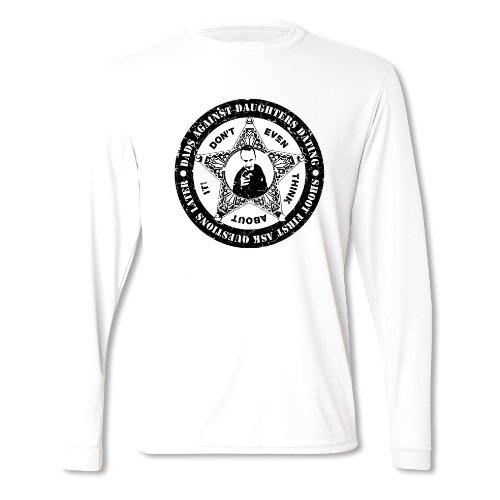 Herren Vatertag PAPA-ABZEICHEN Langärmliges T-Shirt Weiß