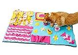 SEnjoyy Schnüffelteppich Hund Schnüffelrasen Schadstofffreies Hunde Katze Matte Futter Schnüffelteppich Interaktiv Haustier Essen Spielzeug Schnüffelmatte