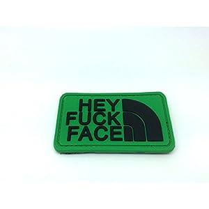 Hey Fuck Face PVC Airsoft Patch Vert foncé