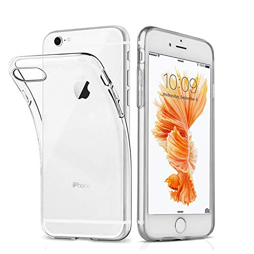 Ylife Hülle Kompatibel iPhone 6 Plus, iPhone 6s Plus, Ultra-dünn Transparent Weiche Silikon TPU Stoßstange Handyhülle Schutzhülle, Kratzfest, Transparent, Anti-Rutsch 5.5 Zoll Case Cover