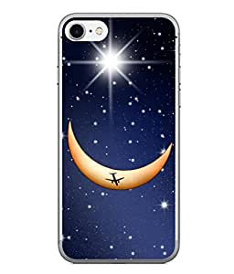 PrintVisa Designer Back Case Cover for Apple iPhone 6 Plus :: Apple iPhone 6+ (The Aeroplane Image In Moon Design)