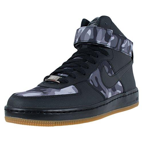 Nike Wmns Af1 Ultra-Force-Mid-Druck, schwarz / schwarz-Wolf Grau, 5,5 Us Black / Wolf Grey-Gum Med Brown-Black