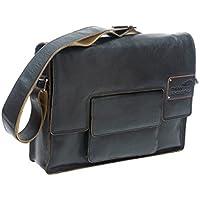 New Looxs - Borsa a tracolla, in pelle, modello Barolo, nero (nero), 41 x 10 x 31 cm