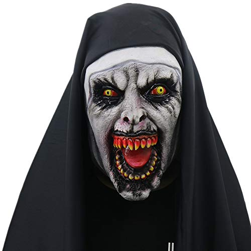 ZAMAC Terror Máscara de Halloween Látex Adulto Novedad Horror Espeluznante Cabeza Máscaras Cara Fiesta de Disfraces Cosplay