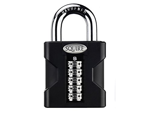 a24a500bb Henry Squire Stronghold 5 Wheel Open Shackle Combi Hardened Steel Padlock  with Weather Cover
