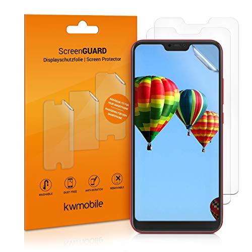 kwmobile 3X Folie für Xiaomi Redmi 6 Pro/Mi A2 Lite - klare Bildschirmschutzfolie Bildschirmschutz Crystal Clear kristallklar Bildschirmfolie Schutzfolie
