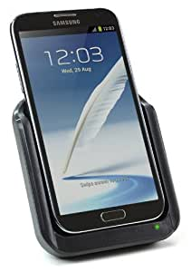 KitSound Data Sync, Charge and Audio Output Docking Station Cradle with Standard Micro USB Connector for Samsung Galaxy Note 2 - Black