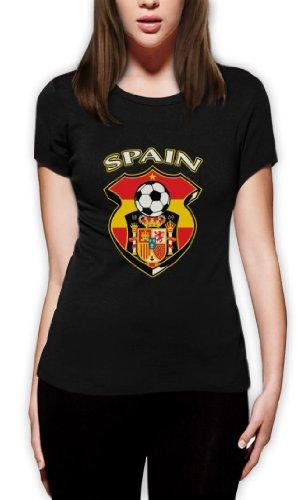 Spanien Fußball-Weltmeisterschaft Frauen T-Shirt Schwarz