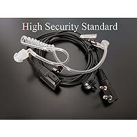 Kenwood Security Headset Funkgerät Baofeng Pofung Ohrhörer Kopfhörer Schallschlauch Mikrofon - 2  -Pin 3,5mm Klinke Metall Clips