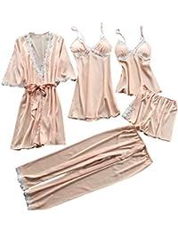 TIFIY Sexy Conjuntos Cinco Vestido Mujer Erótico Lace Talla Grande Lenceria Babydoll Interior Ropa de Dormir