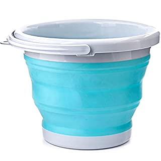 The Fisherman vinallo 10L SILICONE FOLDING COLLAPSIBLE BUCKET CONTAINER FOR CAMPING BBQ Caravan Wash