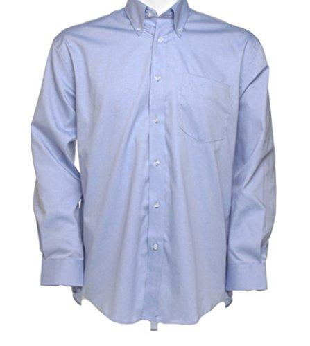 Neue Men's Kustom Kit Corporate Hemd Oxford Langarm-Shirt, für Erwachsene, formell Blau - Hellblau