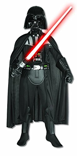 Costume Darth Vader Delux Star Wars Originale Bambino - Large 8 -10 Anni 148 cm, Nero