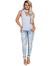 Women's Ladies Stunning Glam Sequin Detail Celeb Skinny Jeans
