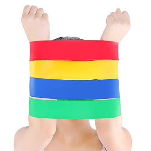 GSOTOA Fitnessbänder Gymnastikbänder, Resistance Bänder aus Naturlatex, Verschiedene Stärken Widerstandsbänder, Premium Trainingsbänder für Yoga und Fitness (Fitnessbänder Set)