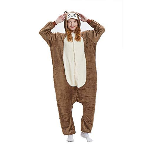 (NN IKEA Schlafanzug Tierkostüme Pyjamas Cartoon Cosplay Weihnachten Karneval,Brown,S)