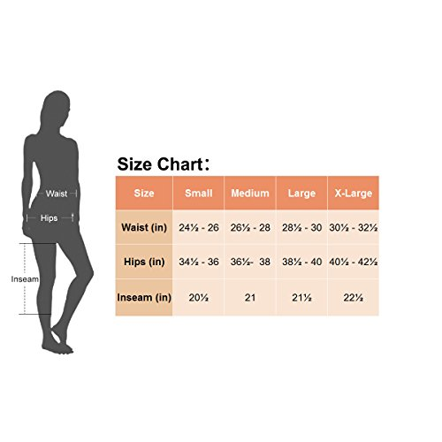 Baleaf Damen Fitness Workout Laufhose Running Capri Leggings mit Quick-Dry-Funktion Rot