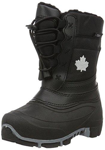 Canadians Unisex-Kinder Allwetterstiefel Schneestiefel Schwarz (000 BLACK)