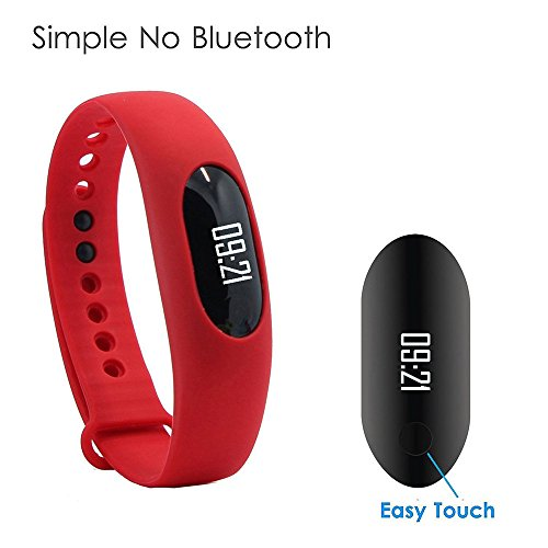 Pedometro, Willful®Contapassi Fitness tracker no Bluetooth - Activity tracker per contare passi/calorie/distanza/velocità, monitor del sonno, mostra data e ora (Rosso)