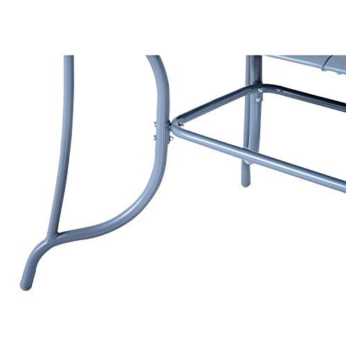 Outsunny Set Mobili da Giardino Tavolo con 6 Sedie Pieghevoli in Alluminio e Tessuto di Textilene - 9