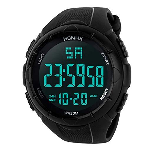 Uzinb Wasserdicht einzigartige Männer Digital-Armbanduhr Mal Boy Sport-Quarz-beiläufige Art und Weise Uhren Schüler Wrist Zeitschaltuhren (Mal-armbanduhr)