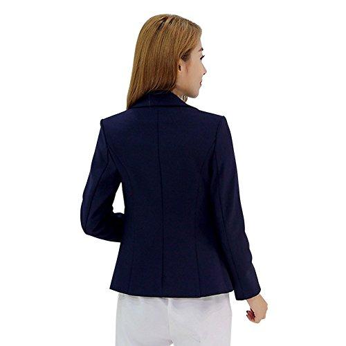 Etosell Femmes Solide Fashion Slim Blazer Jacket Noir/Rouge Hauts Casual Manteau Noir