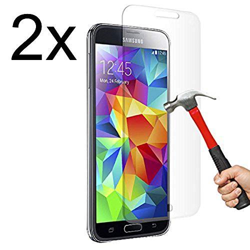 Cäsar-Glas [2 Stück] Panzerglas Schutzglas für Samsung Galaxy S5 Mini, Anti-Kratzen, Anti-Öl, Anti-Bläschen, 9H Echt Glas Panzerfolie Schutzfoliee
