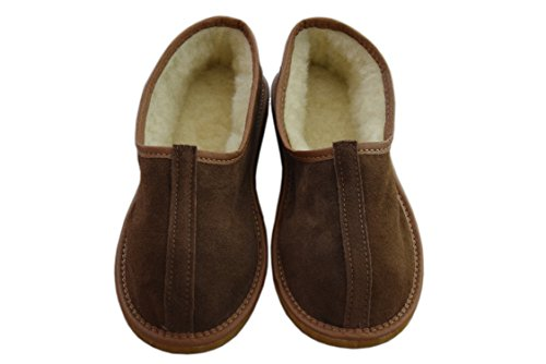 Natleat Slippers , Bottes femme mixte adulte homme Brown / suede