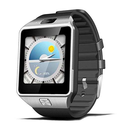4 Gb-armband (Smart Watch Smart Armband 512 MB / 4 GB Bluetooth 4,0 Real-Schrittzähler SIM Karte Anruf Anti-verloren Smartwatch PK DZ09 GT08 3G WIFI QW09 Android , silvery grey)