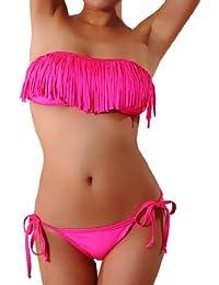 Cloris Murphy Bikini frangé Bandeau Fringe Maillot sexuel de bain pour Femme et Fille BN917