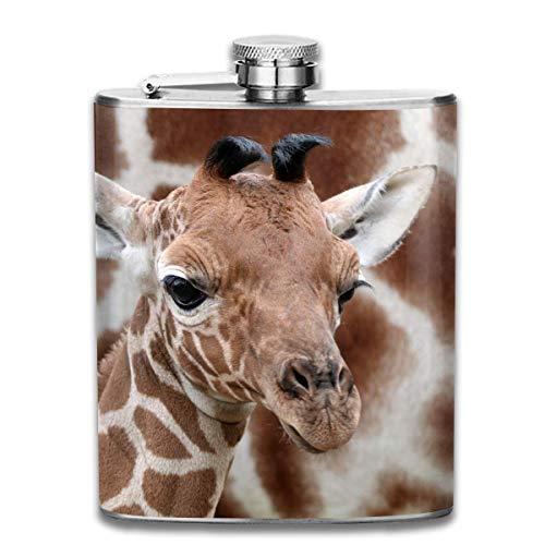 7-Unze-Edelstahlflaschen Giraffen-Leck-Beweis-Wein-Likör-Whiskyflaschen Groomsman-Brautjungfernflaschen Mini-flan