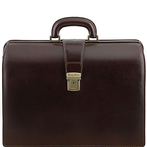 Tuscany Leather TL141347, Borsa a spalla uomo Marrone marrone compact