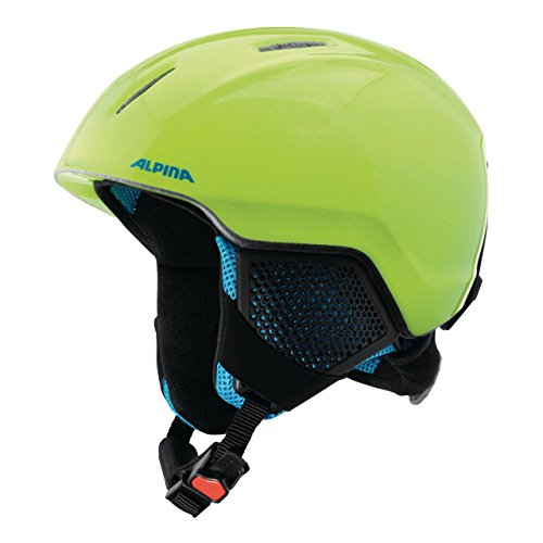 ALPINA Kinder Carat LX Skihelm, neon-Yellow, 54-58 cm