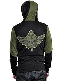The Legend of Zelda Zip Hoodie Hoody Jacket Hooded Top Sweat: Character (Black / Green Size: S-XXL)