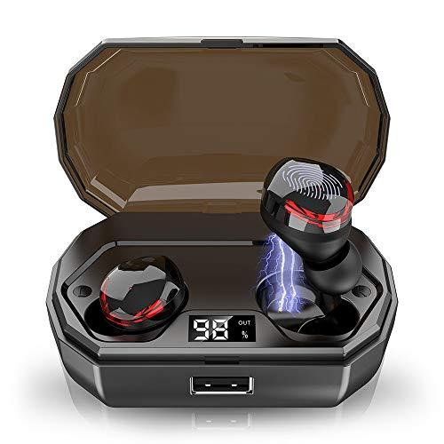 Ecouteur Bluetooth Oreillette Bluetooth 5.0, Écouteurs Sport Etanche IPX8, 3000mAh Conduite Continue Pendant 120 Heures Automatique Support de Siri CVC8.0 Ecouteurs sans Fil pour Samsung Huawei