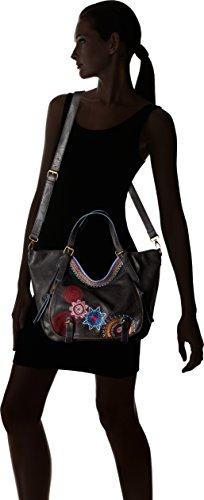 Desigual Bols Rotterdam Amber Handtasche Schwarz (Negro)