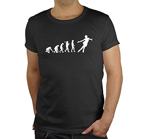 Eiskunstlauf Regular Rundhals Herren Evolution T-Shirt BC150-black-s